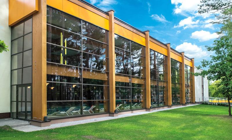 aliuminio profilių fasadų sistema