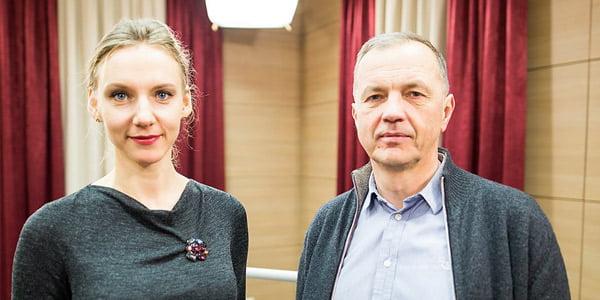Rūta Leitanaitė ir Audrius Ambrasas. Karolio Mankausko nuotr.