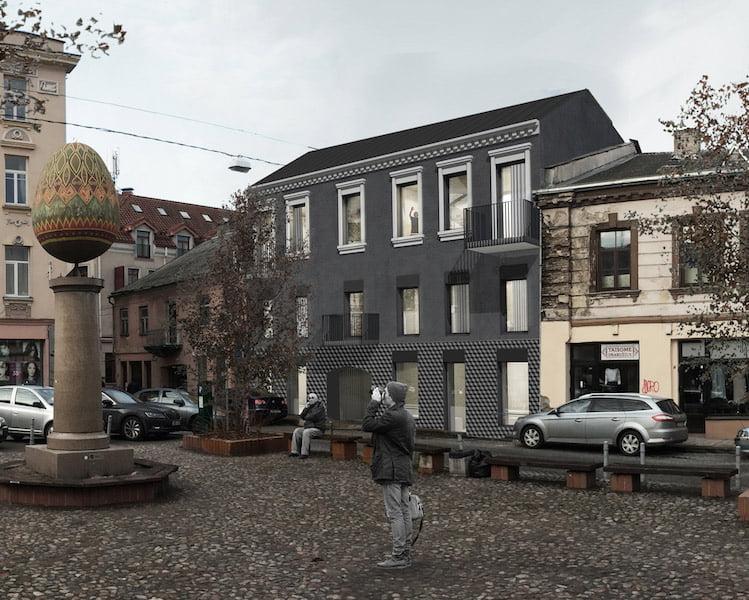 Gyvenamojo pastato Vilniaus senamiestyje renovacijos projektas.