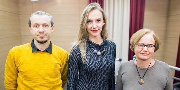 Tomas S. Butkus, Rūta Leitanaitė ir Rasa Kučinskienė.<br>Karolio Mankausko nuotr.