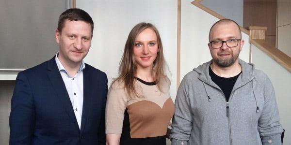 Simonas Kairys, Rūta Leitanaitė ir Vaidas Petrulis.