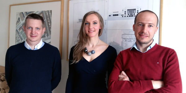 J. Brzozowski (BBGK), R. Leitanaitė ir K. Grabowecki (BBGK).