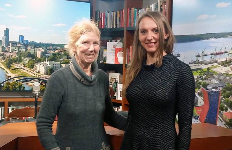 Catherine Burke (kairėje) ir Rūta Leitanaitė.