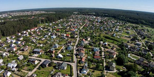 Sodininkų bendrija Ožkiniai.<br>aerofotografija.lt nuotr.