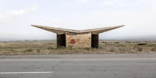 "Fotografijų albumo ""Soviet Bus Stops"" (2015) nuotr."
