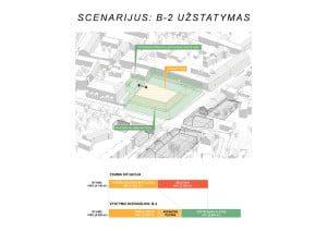 Steigiamojo Seimo aikštės, erdvinio vystymo scenarijus B-2.