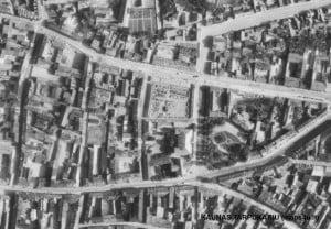 Senoji Kauno rinka (dab. Steigiamojo Seimo aikštė) tarpukariu.
