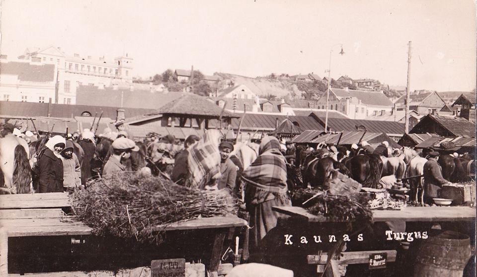 Senoji rinka tarpukario laikotarpiu. VDU išeivijos instituto nuotr. iš A. Dumbliausko archyvo.