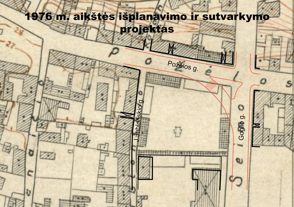 1976 m. senoji rinka panaikinta dėl tuometinių N. Gogolio (dab. Gimnazijos) ir K. Požėlos (dab. Šv. Gertrūdos) gatvių rekonstrukcijos.