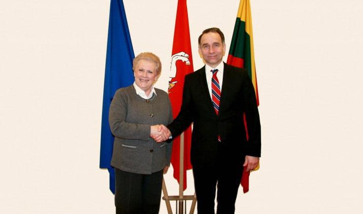 Catherine Trautmann ir Rokas Masiulis. Susisiekimo ministerijos nuotr.