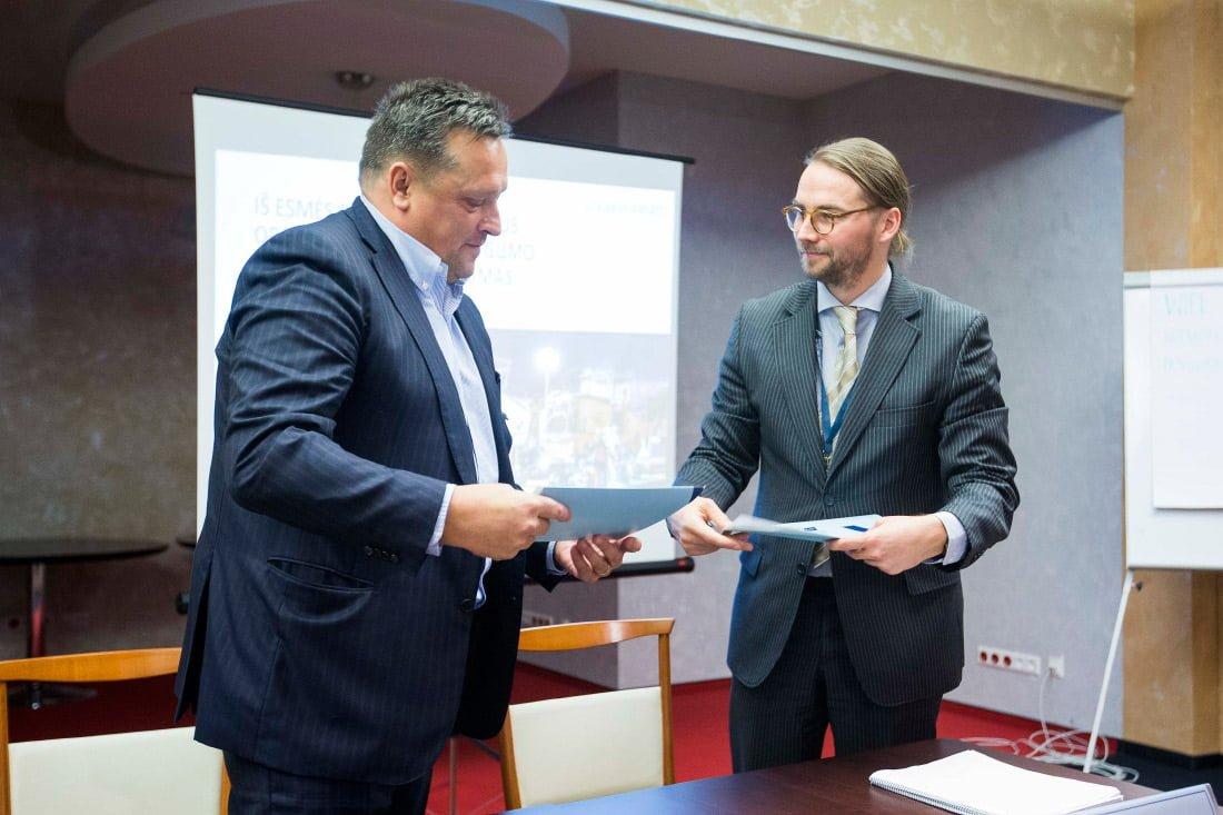 Valdis Lejnieks ir Gediminas Almantas.