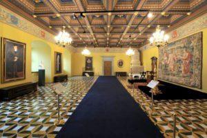 Renesansinė audiencijų menė, arba Žemutinė reprezentacinė salė dabar.