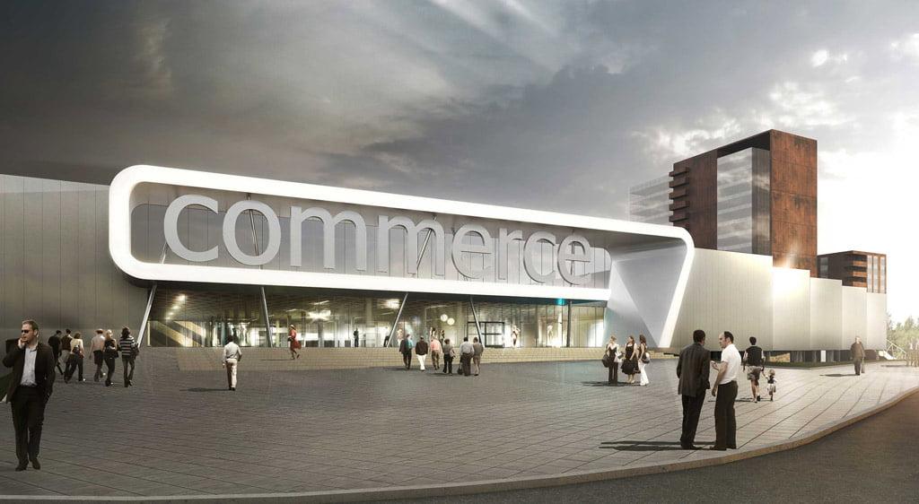 Multifunkcinis prekybos kompleksas Minske. Vilniaus architektūros studijos vizual.
