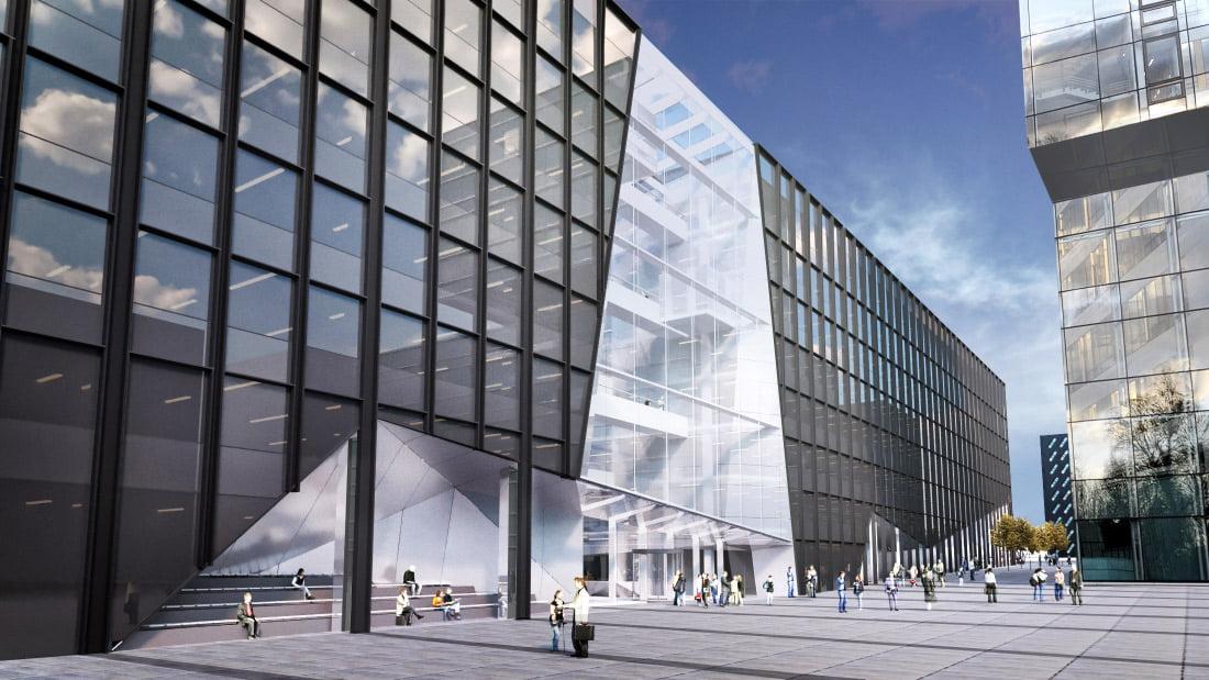 "Biurų pastatas ""Business Stadium West"". ""Hanner"" vizual."