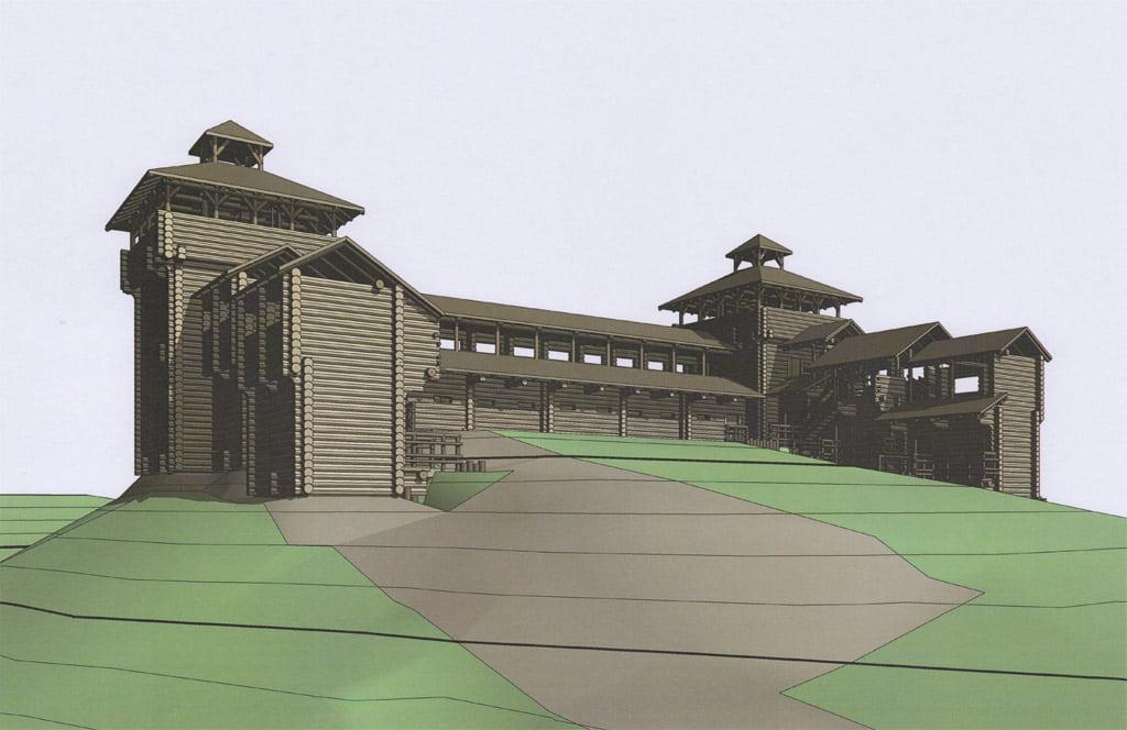 Medinės pilies statybų projektas