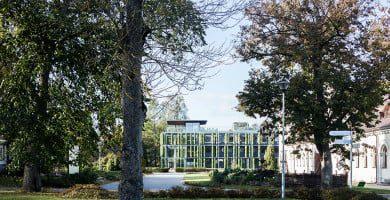 VU Kairėnų botanikos sodo žaliasis pastatas-augalas. Norbert Tukaj nuotr.