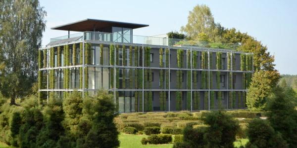 VU Botanikos sodo žaliasis pastatas (E. Turskienės nuotr.)