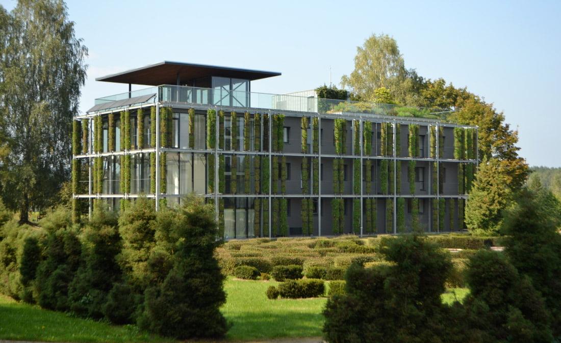 Vilniaus Universiteto Kairėnų botanikos sodo žaliasis pastatas. E. Turskienės nuotr.