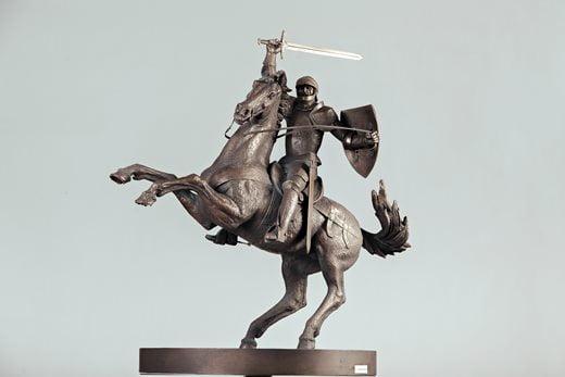 "Arūno Sakalausko skulptūra ""Laisvės karys""."