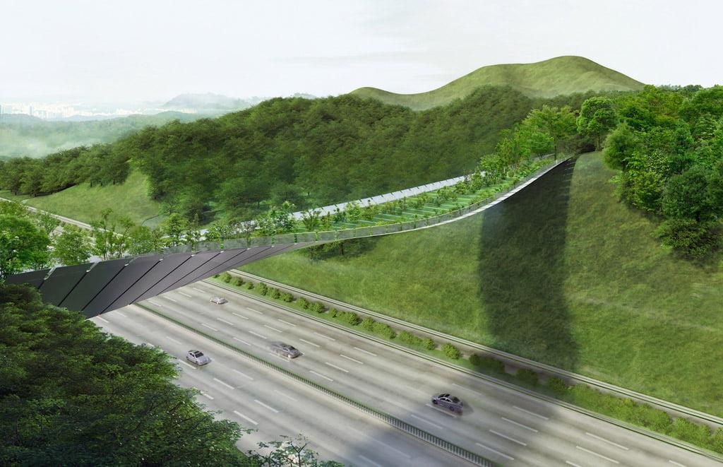 Žaliojo tilto projektas Seule. Projekto autorių vizual.